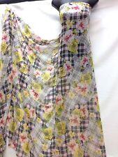 Designer Multicolour Floral / Check  Chiffon Fabric wedding light