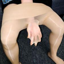 Seamless Men Women Shiny Glossy Pantyhose Long Sheer Pants Nylon Stocking Tights