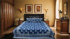 Rajasthani Pure Cotton Hand Block Dabu Print Double Bed Sheet Set& 2 Pillow case