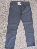 NWT Men's Banana Republic Slim Fit Traveler Jeans Charcoal Grey 35 x 36