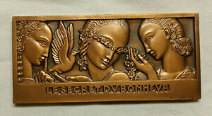 Médaille Monnaie de Paris Le secret du bonheur Jean Vernon 7,5 x 3,5 cm 100 gr