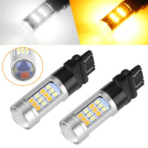 Dual Color Car Accessory 3157 LED DRL Switchback Turn Signal Parking Light Bulb