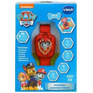 vTech Paw Patrol Marshall Learning Watch with 4 Games and 12 Clock Faces