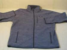 Patagonia Mens XL Better Sweater Full Zip Jacket #25527 Stonewash Grey Excellent
