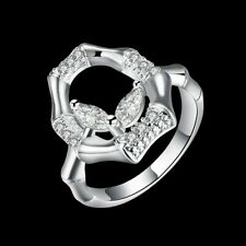 Bamboo Rings For Women R795 Fashion 925Sterling Solid Silver Jewelry Crystal