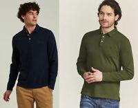 Fat Face Mens Long Sleeve Organic Cotton Polo Shirt T shirt top S M L XL 2XL 3XL