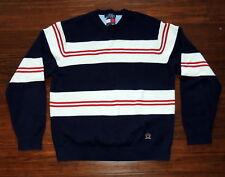 Vintage Tommy Hilfiger Mens XL Sweater Crewneck Bold Stripe Pull Over