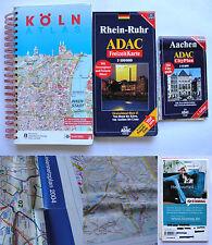 cartine Germania mappe Aachen, Rhein-Ruhr, Colonia Köln maps Germany stradario