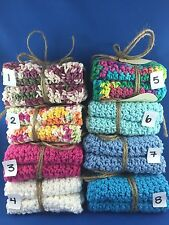 Handcrafted Crocheted Dishcloth Or Face Cloth 3 sets of two