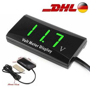 Auto DC12V LED Digital Monitor Voltmeter Batterieanzeige Spannung Marine Caravan