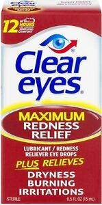 Clear Eyes Maximum Redness Relief  Eye Drops 15ml 08/2022