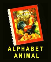 """Animal Alphabet"" Letters of Romanian Alphabet 30 color pict. of animals alfabet"