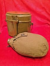 Original Soviet Russian Army Military Flask and Bowler USSR