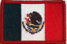 MEXICO Flag Military Patch With VELCRO® Brand Fastener Red Emblem #58