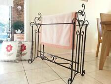 French Style Quilt Blanket Stand Bathroom Towel Rail Rack Scarf Display BLK003 B