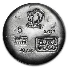 5 oz Silver Round - Bison Bullion (1st 50 Issued) - SKU#153317