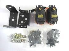 Negro 2 DOF pan y montaje de Sensor de inclinación con Servos MG995 Para Arduino Robot Hazlo tú mismo