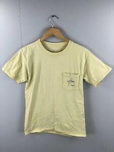 Guy Harvey Original Men's Vintage Short Sleeve T Shirt - Size Small - Yellow