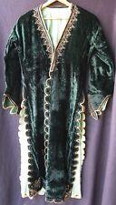 Antique? Vintage Turkish Ottoman Empire Metal Embroidered Velvet Robe Green