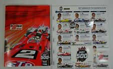 2019 Indianapolis 500 103RD Running Program Starting Line-Up Event Pins Decal