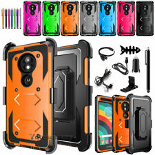 For Motorola Moto E5 Cruise/Play/Go Rugged Phone Case Holster Cover + Accessory