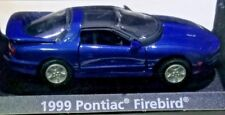 Motor Max 1999 Pontiac Firebird T TOPS Metallic Blue 1/64 DIECAST w DISPLAY CASE