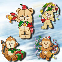 HAPPY CHRISTMAS CUTIES 10 MACHINE EMBROIDERY DESIGNS CD or USB