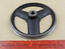 Unused 7 14 Dia Cast Iron Wheel Pulley Lathe Industrial Machine Age Steampunk