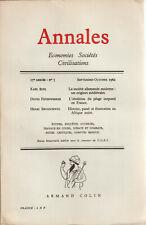 Annales Economies Sociétés Civilisations Sept/Oct 1962   Bosl-Feuerwerker