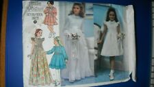 VOGUE  Sewing pattern NO.1877 GIRL'S COMMUNION DRESS sz 7 cut