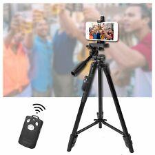 YUNTENG Aluminum Camera Tripod Stand 3-Way Head & Bluetooth Remote + Phone Clip
