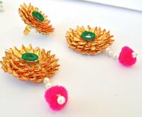 Multicolored Gota Patti Earrings Set For Women And Girls Fashion Floret Jewelry