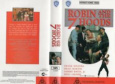 ROBIN AND THE 7 HOODS - VHS - PAL - NEW - Never played! - Original Oz release