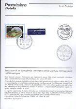ITALIE 2006 JOURNÉE MONTAGNE BULLETIN COMPLET DE TIMBRES ANNULATION FDC