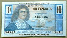 SAINT-PIERRE-ET-MIQUELON 10 FRANCS P23 1950-60 UNC