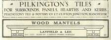 1926 Layfield And Lee Cabinet Works Burnley Old Advert
