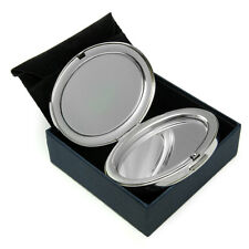 Compact Handbag Mirror Silver Plated Personalised Engraved Gift Present