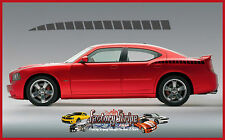 DODGE CHARGER REAR QUARTER DIVIDED LINE SPEARS DECALS FACTORY STRIPE 2006 2010