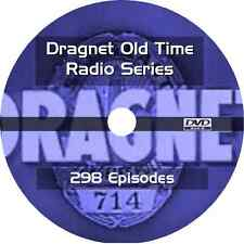 * DRAGNET 1950's (OTR) OLD TIME RADIO COLLECTION *  298 EPISODES on DVD * AUDIO