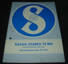 Reparaturanleitung Sachs Stamo 75 RM Rasenmäher Motor Reparaturanweisung