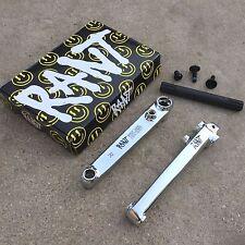 RANT BANGING 8 CRANKS 3 PIECE 4130 CR-MO BLACK OR CHROME BMX BIKE CRANK
