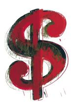 Andy Warhol dollari Sign 1981 Red poster stampa d'arte immagine 36x28cm-germanposters