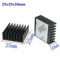 5pcs 25x25x10mm Aluminum Heatsink for Chip CPU VGA RAM IC LED Heat sink Cooler