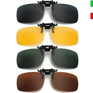 Clip Occhiali da Sole Polarizzati Uomo Donna 4 Pezzi Clip-on per Esterno Guida