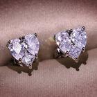 2021 Fashion 925 Silver Cz Zircon Heart Earrings Ear Stud Women Jewelry Gifts