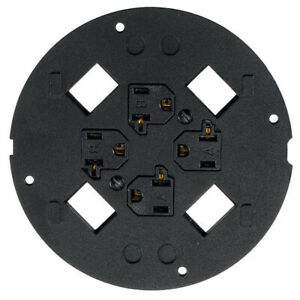 Hubbell S1SP4X4 System One 4 x 4 Sub-Plate, Black