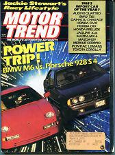 Motor Trend Magazine April 1988 BMW M6 vs. Porsche 928S4 EX ML 121815jhe