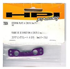 Vintage RC Car Nitro Touring HPI 75004 Purple Aluminum Steering Plate A for R40