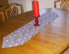 Christmas Table Runner REINDEER 110cm x 26cm SILVER GREY Decoration Pointed
