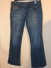 Habitat For Humanity By Jerome Dahan Jeans Size 28 Destroyed Pant Legs Women's